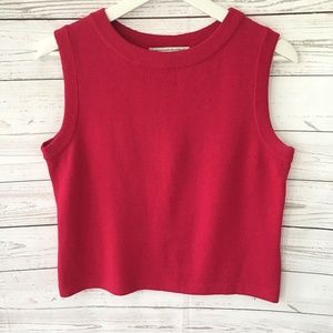 St John Sport Womens S Red Santana Knit Tank Top
